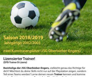 B-Jugend Bezirksliga! Nicht nachdenken! Mitmachen!