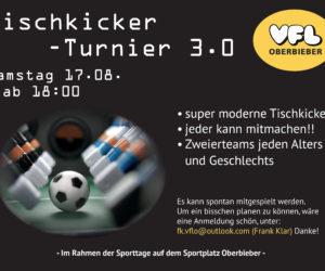 Tischkicker – Turnier 3.0