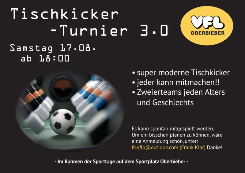Tischkicker - Turnier 3.0