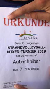 Aubachbiber Langeoog 2019